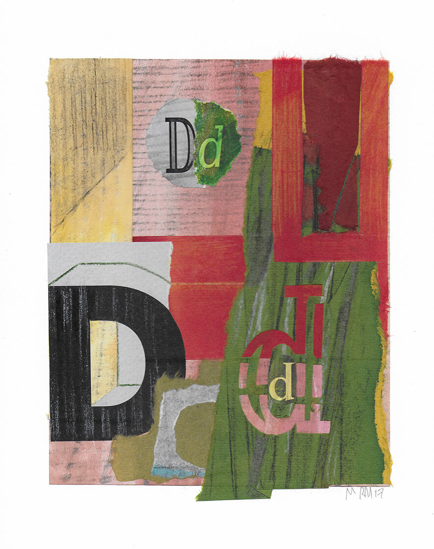 "Letra D de la serie 27 Caracteres que representa ""El matrimonio Arnolfini"". Jan Van Eyck."