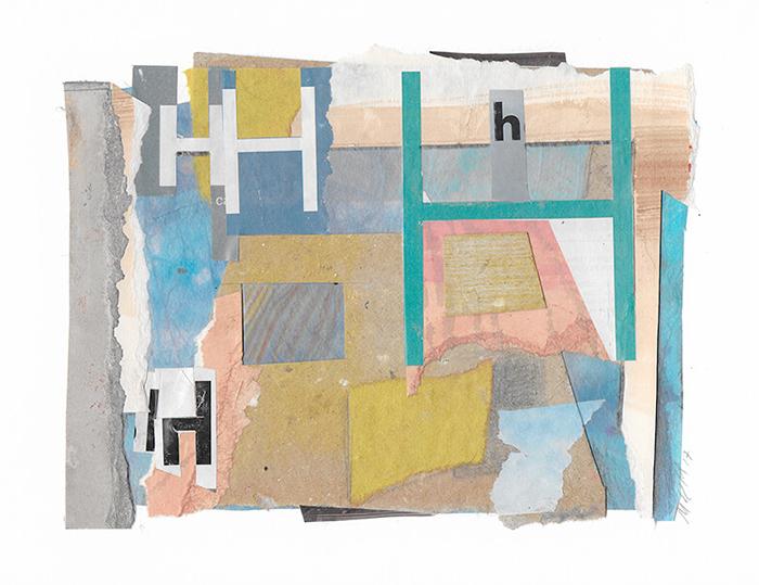 """Letra H de la serie 27 Caracteres que representa """"La Habitación en Arlés"""". Vincent Van Gogh."""
