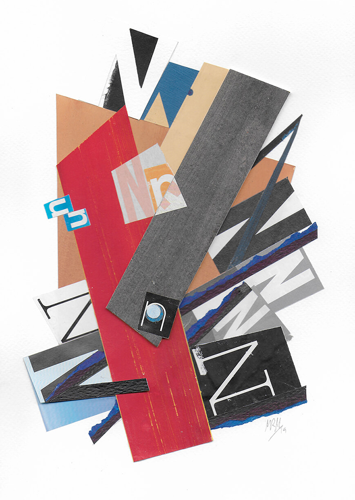 """Letra N de la serie 27 Caracteres que representa """" Construcción, espacio y fuerza"""". Lyubov Popova"""