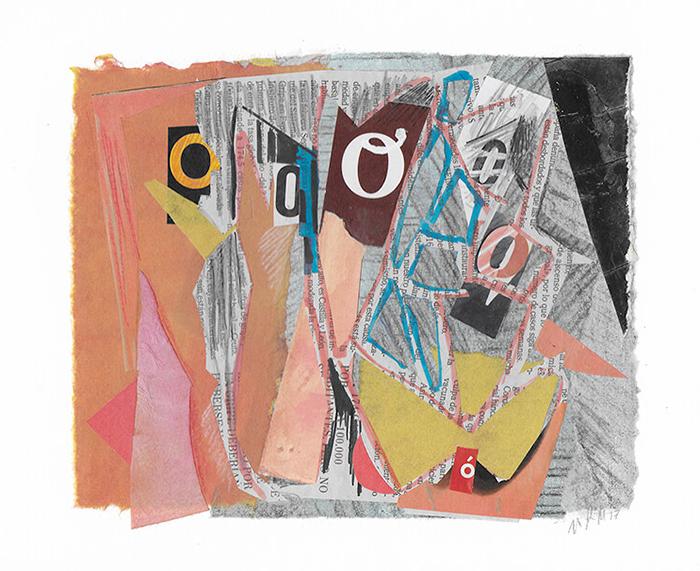 """Letra O de la serie 27 Caracteres que representa """"Las señoritas de Avignon"""". Pablo Picasso."""