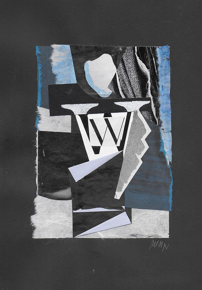 """Letra W de la serie 27 Caracteres que representa """"Retrato del Marqués de Sommi"""". Tamara de Lempicka."""
