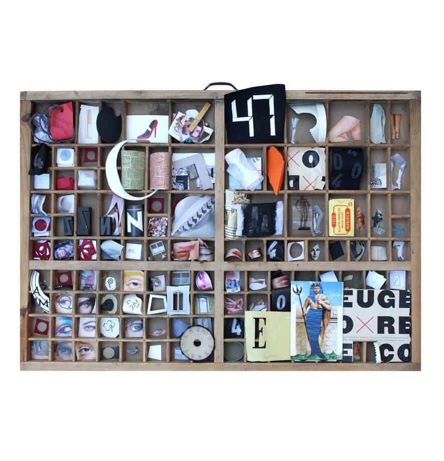 Altar s/f. Algunas pequeñas piezas que proceden del recorte, del deshecho…se organizan en este altar informal.