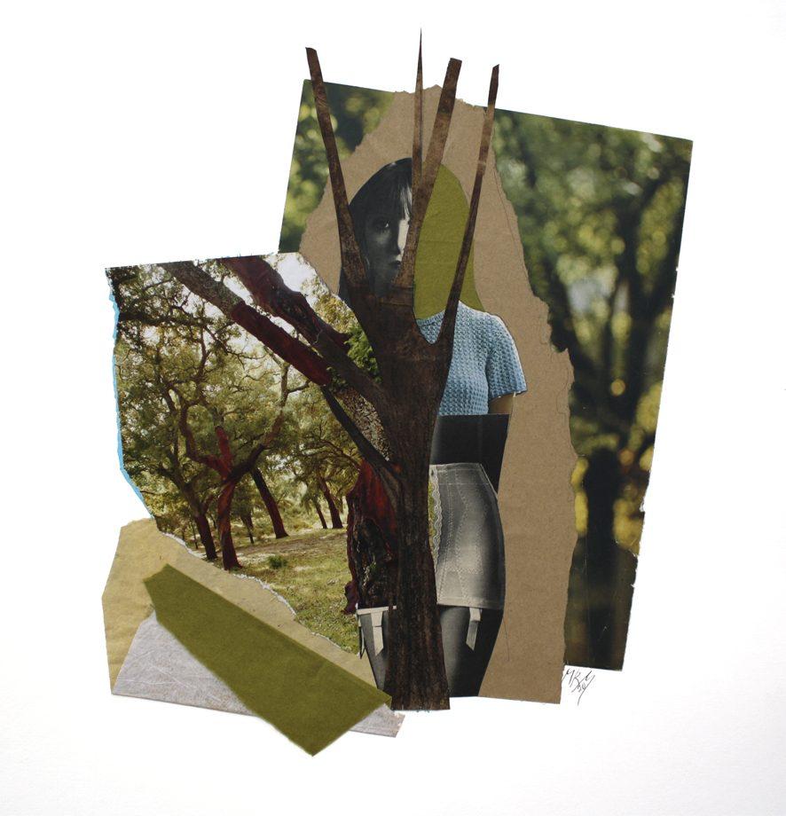 Bosque 2020. Su silueta es simétrica como las profundidades del bosque.