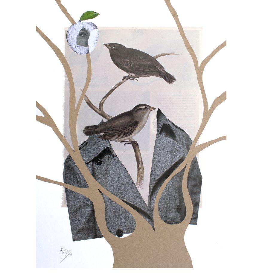 Silueta y árbol 2020. Extiende sus ramas.